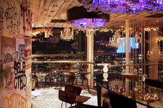 Duck and Waffle bar area -- adding a viewing deck/view element to our concept