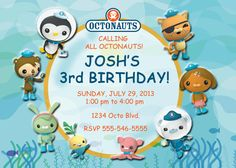 Personalized Octonauts Birthday Invitation by GiftsFromHyla, $7.00