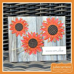 The Scrap Zone: Flower Market - Sunflower Cardmaking Workshop