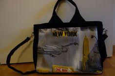 Sac Foxtrot aux couleurs de New York par Coccole e Sole #patroncouture #sac