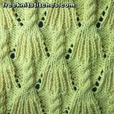 Panicles knitting stitches