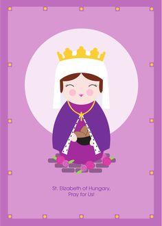 Saint Elizabeth of Hungary Print