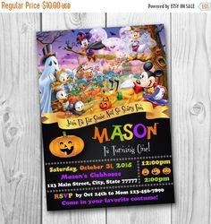 DIGITAL FILE - Mickey Mouse Halloween Invitation - Disney Halloween Invitation - Mickey Mouse Halloween - Halloween invitation
