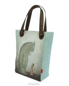 Shopper Bag, Tote Bag, Santoro London, Once Upon A Time, Fairy Tales, Beast, Handbags, Shopping, Totes