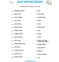 Juegos para Baby Shower - Bíblico ~ El Bebe de Mama - Embarazo, Parto, Lactancia, Bebe, Salud