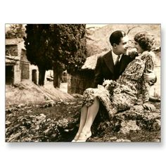 sweet vintage picture of springtime love :- ) 1920's