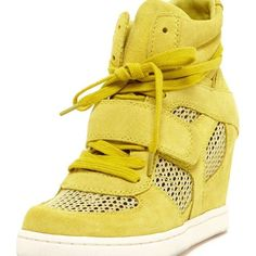 Mint condition ASH yellow suede sneakers Original and different. Chic and cute! Ash Shoes Wedges