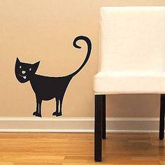Kitty Cat Vinyl Wall Decal