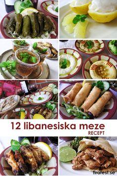 Recept på 12 läckra meze! Bjud på småplock från Medelhavet! Perfekt till festen heta sommarnätter! Perfekt innan man sätter igång grillen. #meze #plockmat #libanon #recept #meza #festtips #firafest.se #festmat