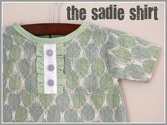 You can make a cute kids shirt from scratch! With this 5 part tutorial, you'll learn how to make The Sadie Shirt.