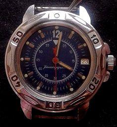 """Vintage Russia USSR """"Komandirskie"""" Vistok commander mechanical watch 2414 #Vostok #Diver"""