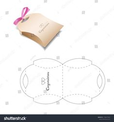 Retail box with blueprint template stock vector (royalty free) 1158277024 Cool Paper Crafts, Paper Crafts Origami, Diy Origami, Diy Arts And Crafts, Diy Paper, Diy Gift Box, Diy Gifts, Paper Box Template, Box Patterns