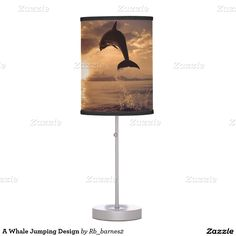 A Whale Jumping Design Desk Lamp
