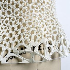 Innovative Textiles Design for Fashion - 3D-printed bodice with flexible hinged pieces; fabrication; fashion design detail // Kinematics