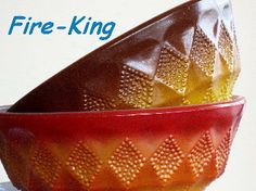 Fire King | Glass, Kimberly Pattern | Bowls, Vintage | Old Luxe