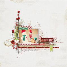2013 December Days 3 digital scrapbook page using supplies from Designer Digitals