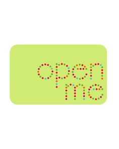 """Remind guests what to do with an """"Open Me"""" gift tag that you can print, cut out, and affix on presents.Print the """"Open Me"""" Gift Tag"""