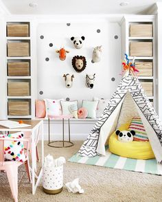Remember a couple months ago when I madeover @greenweddingshoes' playroom almost entirely with items from @targetstyle's #Pillowfort line? Well Target recently challenged three other well-known designers to do the same (@hunted_interior, @cassiesugarplum, & @emilyaclark) and today on the blog I'm sharing their cute takes on a playroom makeover. Link in my bio. Photo by @hunted_interior.