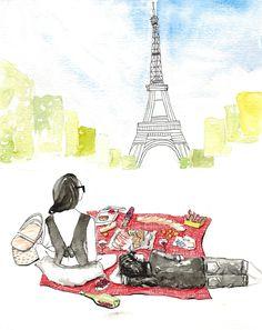paris picnic.  thefrancofly.wordpress.com.