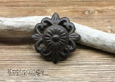 Cast Iron Knob Drawer Pull with detachable base - Available in Any Color - Natural Brown Rustic Kitchen Home Accents Dresser Knobs And Pulls, Drawer Pulls, Copper Metal, Copper Color, Cast Iron, It Cast, Blue Cabinets, Decorative Knobs, Ceramic Knobs