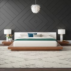 Low Platform Bed Frame, Platform Bedroom, King Platform Bed, Modern Platform Bed, Upholstered Platform Bed, Low Bed Frame, Wall Behind Bed, Bed Wall, Bed Frame Design