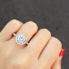 Halo Circle Engagement Ring