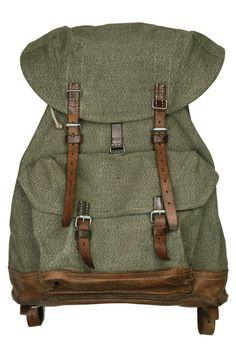 Vintage swiss army canvas and leather  salt n pepper  backpack - Atelier de  l e1c3c9e014