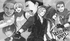 Resident Evil Franchise, Resident Evil Anime, Leon S Kennedy, Crazy Fans, Jill Valentine, Character Art, Horror, Geek Stuff, Drawings