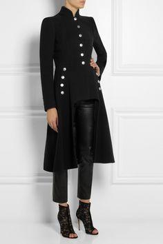 Alexander McQueen Cutout wool coat NET-A-PORTER.COM