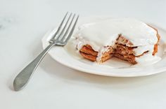 Cinnamon Roll Protein Pancakes   The Slender Student