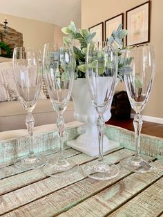 Mikasa Crystal Champagne Flutes set of Four Spring Petals Pattern Floral Stem Optic Bowl Wedding Anniversary TYCAALAK Crystal Wine Glasses, Crystal Champagne, Champagne Flutes, Crystal Centerpieces, Mikasa, Star Shape, Photo Props, Wedding Anniversary, Crystals