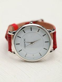 Free People Henna Stamped Leather Watch