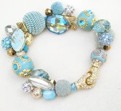 """The Boho Bauble Bracelet w. """"Lobster Claw"""" magnetic clasp  Learn how to use this super chic lobster style magnetic clasp with TWO how-to videos!  Bracelet tutorial with step-by-step photos  Enjoy!"""
