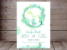 Bridal Shower Ideas on Decorations, Themes, Bridal Shower Favors and Games, FREE Printable Bridal Shower Games, Printable Favors Mermaid Baby Shower Decorations, Mermaid Bridal Showers, Mermaid Parties, Baby Shower Themes, Shower Ideas, Printable Bridal Shower Games, Baby Shower Printables, Mermaid Invitations, Bridal Shower Invitations