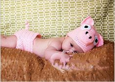 Jastore® Photography Prop Baby Pink Pig Costume Crochet Knitted Hat Diaper Jastore http://www.amazon.com/dp/B00MCP5MI6/ref=cm_sw_r_pi_dp_cpnmub1G64ERC
