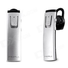 Morul MR3 Mini Universal Bluetooth V4.0 Earhook Headset - Silver - From 35,= for Euro 22,45