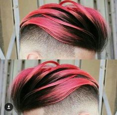 Woosh back pink hair