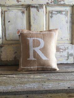 burlap pillow monogram pillow bridesmaids u0026 by