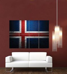 ICELANDIC ICELAND FLAG GIANT WALL ART PRINT POSTER Iceland Flag, Giant Wall Art, Poster Pictures, The Beautiful Country, Flag Decor, Fire And Ice, Print Poster, Flags, Vikings