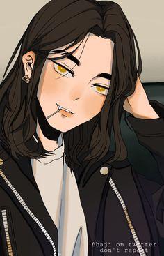 Anime Oc, Anime Kawaii, Otaku Anime, Anime Guys, Manga Anime, Drawing Hair Tutorial, Tokyo Ravens, Attack On Titan Eren, Stray Dogs Anime