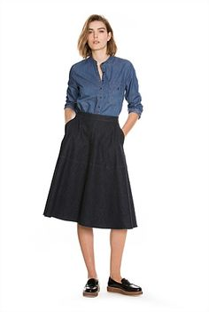 Denim Circle Skirt