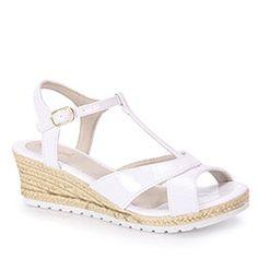 26f98a34b4 Sandália Anabela Infantil Klassipé - 30 ao 36 - Branco Sapatos Infantil  Feminino