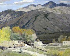 """Late Summer, Taos,"" John Modesitt, oil on canvas, 23 1/2 x 29 1/2"", private collection."
