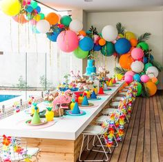 Find some great Moana party ideas on LENZO, and get inspired with this too-cute birthday by Claire Collected. Moana Birthday Party, Luau Party, First Birthday Parties, Birthday Party Themes, Kids Birthday Decorations, Moana Party Decorations, Pool Party Kids, Colorful Birthday Party, Birthday Table