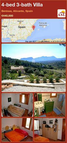 4-bed 3-bath Villa in Benissa, Alicante, Spain ►€440,000 #PropertyForSaleInSpain