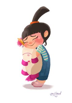 Art Print Agnes from Despicable Me It's So Fluffy by EliseSketch