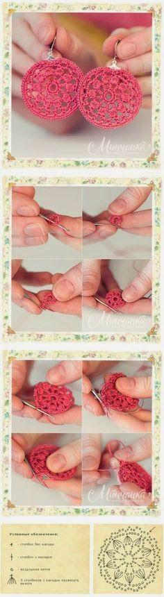 Aros tejidos al crochet - paso a paso