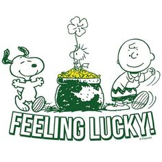 Feeling lucky with Snoopy and Charlie Brown. Snoopy Love, Snoopy And Woodstock, Charles Shultz, Snoopy Comics, Snoopy Quotes, Peanuts Quotes, Peanuts Characters, Charlie Brown And Snoopy, Happy St Patricks Day