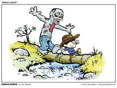 Where's Carl? Calvin & Hobbes and The Walking Dead mash-up. Art by Joel Watson