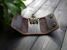 Genuine Leather Key Case Wallet Mens Leather Key от CityOfGod